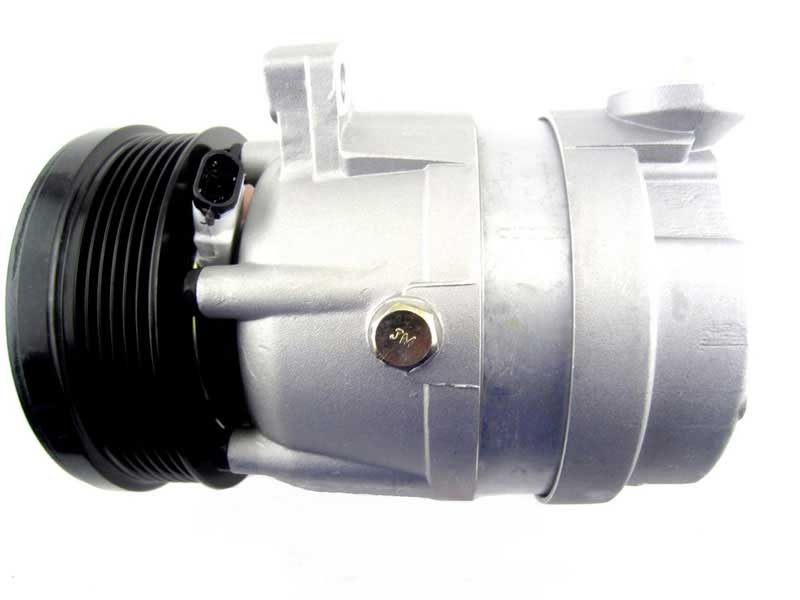 A/C high pressure side compressor with clutch